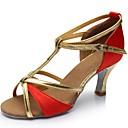 ieftine Colier la Modă-Pentru femei Pantofi de dans Mătase / Imitație de Piele Pantofi Dans Latin Sandale Toc Personalizat Personalizabili Argintiu / Maro / Rosu / Interior / EU40