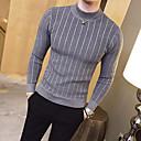 povoljno Muški šeširi-Muškarci Dnevno Osnovni Dungi Jednobojni Dugih rukava Slim Regularna Pullover Džemper od džempera, Uski okrugli izrez Jesen / Zima Crn / Obala / Blushing Pink M / L / XL