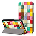 voordelige Samsung-hoes voor tablets-hoesje Voor Samsung Galaxy Tab A 8.0 (2017) Volledig hoesje / tablet Cases Geometrisch patroon Hard PU-nahka