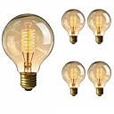 رخيصةأون أكواب و زجاجات-5pcs 40 W E26 / E27 G80 أبيض دافئ 2200-2700 k مكتب  /  الأعمال / تخفيت / ديكور المتوهجة خمر اديسون ضوء لمبة 220-240 V