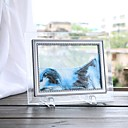 Недорогие Декор для дома-1 шт. Украшения дома стекло плывун творческий поток пейзажной живописи подарки на день рождения офис гостиная 3d песочные часы украшения