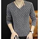 povoljno Muški džemperi i kardigani-Muškarci Dnevno / Vikend Jednobojni Dugih rukava Slim Regularna Pullover Džemper od džempera, V izrez Jesen Crn / Plava / Red M / L / XL