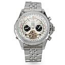 voordelige Merk Horloge-Heren mechanische horloges Automatisch opwindmechanisme Zilver / Goud 30 m Waterbestendig Kalender Analoog Goud Zilver Blauw