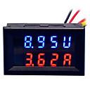 povoljno Digitalni multimetri i osciloskopi-diy praktični dvojni 0,28 inčni 3-znamenkasti crveno plavi vodeni zaslon mjerač napona struje (dc 0 - 100v / 50a)
