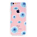voordelige iPhone 5 hoesjes-hoesje Voor Apple iPhone X / iPhone 8 Plus / iPhone 8 Ultradun / Transparant / Patroon Achterkant Bloem Zacht TPU