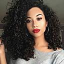 رخيصةأون باروكات اصطناعية-الاصطناعية الباروكات مجعد الشعر المقصوص على الجبهة شعر مستعار متوسط أسود شعر مستعار صناعي نسائي أسود