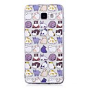 voordelige Galaxy A7(2016) Hoesjes / covers-hoesje Voor Samsung Galaxy A3 (2017) / A5 (2017) / A5(2016) IMD / Transparant / Patroon Achterkant Kat Zacht TPU