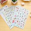 رخيصةأون ملصقات ديكور-6 قطعة / المجموعة الأطفال مذكرات ملصقا الهاتف ملصقا القصاصات ملصقات