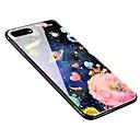 رخيصةأون أغطية أيفون-غطاء من أجل Apple iPhone X / iPhone 8 Plus / iPhone 8 نموذج غطاء خلفي سماء ناعم زجاج مقوى