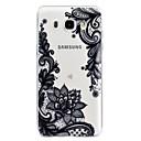رخيصةأون حافظات / جرابات هواتف جالكسي J-غطاء من أجل Samsung Galaxy J7 (2016) / J5 (2017) / J5 (2016) شفاف / مطرز / نموذج غطاء خلفي الطباعة الدانتيل ناعم TPU