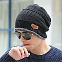 povoljno Zimski modni dodaci-Muškarci Jednobojni Posao Sportski Ispleten,Sweater-Šešir širokog oboda Zima Crn