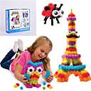 ieftine Copii Acasă-noi bunchems bun pachet clădire nouă jucărie 370 piese copii diy joaca cel mai bun cadou 36 kit de accesorii pentru copii