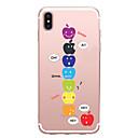 رخيصةأون أغطية أيفون-غطاء من أجل Apple iPhone X / iPhone 8 Plus / iPhone 8 نموذج غطاء خلفي اللعب بشعار آبل ناعم TPU