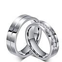 ieftine Inele-Bărbați Pentru femei Inel de logodna Seturi de inele Zirconiu Cubic Titan Zirconiu Cubic Oțel titan Clasic Nuntă Party / Seara Bijuterii Prinţesă