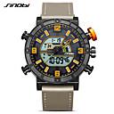 ieftine Ceasuri Damă-SINOBI Bărbați Ceas Sport Ceas digital Japoneză Quartz Piele Gri 30 m Calendar Rezistent la Șoc Cronometru Analog - Digital Casual - Orange / Negru Doi ani Durată de Viaţă Baterie / Iluminat