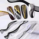 رخيصةأون أغطية أيفون-2 pcs ملصقات الأظافر 3D فن الأظافر تجميل الأظافر والقدمين موضة مناسب للبس اليومي / ستيكرز أظافر 3D