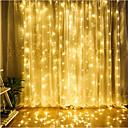 رخيصةأون الستائر-Zdm 1 قطعة بقيادة الستار مصباح سلسلة 3 * 3 m 300 led عيد الميلاد في الهواء الطلق للماء مهرجان الزفاف الديكور الستار متعدد الألوان / الدافئة الأبيض / الباردة الأبيض / الأزرق الاتحاد الافريقي ac220v
