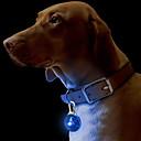 رخيصةأون أطواق ومقاود الكلاب-قط كلب ياقة العلامات أضواء LED الأمان لون سادة بلاستيك أخضر أزرق زهري