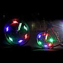 رخيصةأون اضواء الدراجة-LED اضواء الدراجة أضواء السلامة LED الدراجة ركوب الدراجة ألعاب مضيئة CR2032 200 lm cr2032 البطارية أحمر أزرق أخضر أخضر