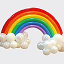 رخيصةأون تزيين المنزل-مجموعة قوس قزح بالون عيد ميلاد حفل زفاف ديكو (20 بالون طويل 16 جولة بالون)