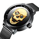 ieftine Ceasuri Bărbați-BIDEN Bărbați Ceas de Mână Quartz Oțel inoxidabil Negru 30 m Rezistent la Apă Cool Schelet Analog Vintage Casual Modă Cool - Auriu Negru