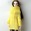 povoljno USB memorije-Lutka Top Majice Za Barbie Bijela Wool Fabric Umjetna vuna Top Za Djevojka je Doll igračkama