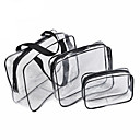 povoljno Remenje za Fitbit satove-3pcs kozmetička vreća set transparentna vrećica za ljepotu vodootporne torbe pranje vrećica dame čine