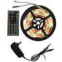 رخيصةأون شريط الضوء LED-SENCART 5m مجموعات ضوء 300 المصابيح 5050 SMD RGB تحكم عن بعد / قابل للقص / تخفيت 100-240 V 1SET / قابلة للربط / اللصق التلقي / لون التغير