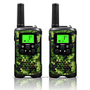 Two Way Radio Intercom 22 Channel 3 Miles Long Range Kids Walkie Talkies Boys Girls Toys Gifts Battery Powered Walky Talky Flashlight Outdoor Adventure Camping (Camo)