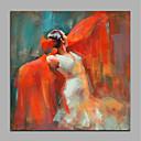 povoljno Bojano-Hang oslikana uljanim bojama Ručno oslikana - Ljudi Moderna Bez unutrašnje Frame / Valjani platno