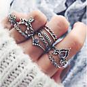 povoljno Modne ogrlice-Žene Prestenje knuckle ring Pinky Ring 10pcs Srebro Legura dame Azijski Vintage Party Dnevno Jewelry
