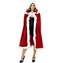 voordelige iPhone-hoesjes-Kerstman Mrs.Claus Mantel Santa Clothe Dames Kerstmis Festival / Feestdagen Pluche stof Rood Carnaval Kostuums Effen