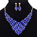 povoljno Narukvice-Žene Sapphire Kristal Komplet nakita Geometrijski Markiza dame Moda Kristal Naušnice Jewelry Crn / Svjetlo žuta / Obala Za Vjenčanje Party Prom