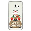 voordelige Galaxy S7 Hoesjes / covers-hoesje Voor Samsung Galaxy S8 Plus / S8 / S7 edge Patroon Achterkant Kerstmis Zacht TPU
