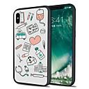رخيصةأون أغطية أيفون-غطاء من أجل Apple iPhone X / iPhone 8 Plus / iPhone 8 نموذج غطاء خلفي قرميدة ناعم TPU