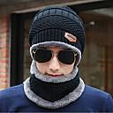رخيصةأون تيشيرتات وتانك توب رجالي-الشتاء أسود رمادي قبعة مرنة لون سادة رجالي-محبوك كنزة,عمل