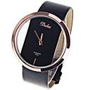 ราคาถูก นาฬิกาสำหรับผู้หญิง-สำหรับผู้หญิง สุภาพสตรี นาฬิกาข้อมือ นาฬิกาอิเล็กทรอนิกส์ (Quartz) หนัง ดำ / สีขาว / แดง นาฬิกาใส่ลำลอง เท่ห์ ระบบอนาล็อก ไม่เป็นทางการ แฟชั่น ที่เรียบง่าย - สีดำ สีน้ำตาล แดง / หนึ่งปี / หนึ่งปี