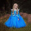 رخيصةأون أكواب و زجاجات-Aurora فساتين للأطفال للفتيات كريسماس عيد الميلاد Halloween حفلة تنكرية عطلة / عيد بوليستر أزرق / زهري كرنفال ازياء ألوان متناوبة / فستان / فستان