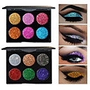 6 Colors Eyeshadow Palette Powders Shimmer EyeShadow Matte Shimmer Formaldehyde Free Glitter Shine smoky Convenient Daily Makeup Halloween Makeup Party Makeup Cosmetic Gift