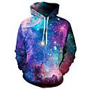 povoljno Muške jakne-Muškarci Aktivan Veći konfekcijski brojevi Hlače - Galaksija / 3D Crvena / S kapuljačom / Dugih rukava / Proljeće / Zima