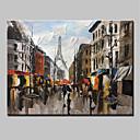 povoljno Bojano-Hang oslikana uljanim bojama Ručno oslikana - Pejzaž Moderna Bez unutrašnje Frame / Valjani platno