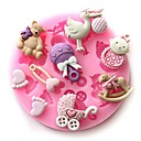 رخيصةأون أدوات الفرن-طفل حزب سيليكون قالب الكعكة الرضع الشوكولاته الصابون الحرفية العفن diy أدوات خبز