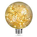 povoljno LED žarulje s nitima-1pc 3 W LED filament žarulje 200 lm E26 / E27 G95 33 LED zrnca SMD Ukrasno zvjezdani Božićni vjenčani ukrasi Toplo bijelo 85-265 V / RoHs