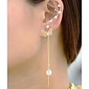 ieftine Cercei-Pentru femei Zirconiu Cubic Cercei Picătură Cătușe pentru urechi Cățărătorii de urechi Lung Fluture Declarație femei Supradimensionat Zirconiu cercei Bijuterii Auriu / Argintiu Pentru Serată Stradă