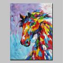 economico Pittura-Hang-Dipinto ad olio Dipinta a mano - Animali Animali Modern Senza telaio interno / Tela arrotolata