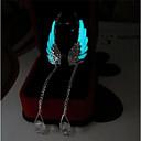 ieftine Android-Pentru femei Cercei Picătură Aripi de inger femei Modă Luminos cercei Bijuterii Albastru Deschis Pentru Zilnic Măr 2pcs