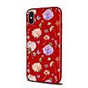 رخيصةأون أغطية أيفون-غطاء من أجل Apple iPhone X / iPhone 8 Plus / iPhone 8 نموذج غطاء خلفي فراشة / زهور ناعم TPU