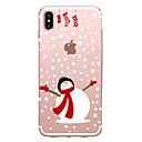 رخيصةأون أغطية أيفون-غطاء من أجل Apple iPhone XS / iPhone XR / iPhone XS Max شفاف / نموذج غطاء خلفي عيد الميلاد ناعم TPU