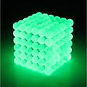 ieftine Jucării cu Magnet-64 pcs 5mm Jucării Magnet bile magnetice Lego Super Strong pământuri rare magneți Magnet Neodymium Puzzle cub Magnet Neodymium Componentă Tipul magnetic Stralucire in intuneric Stres și anxietate
