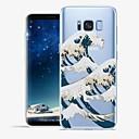 رخيصةأون حافظات / جرابات هواتف جالكسي S-غطاء من أجل Samsung Galaxy S8 Plus / S8 / S7 edge نموذج غطاء خلفي خطوط / أمواج / منظر ناعم TPU